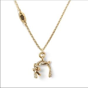 Juicy Couture Pave Wishbone Necklace